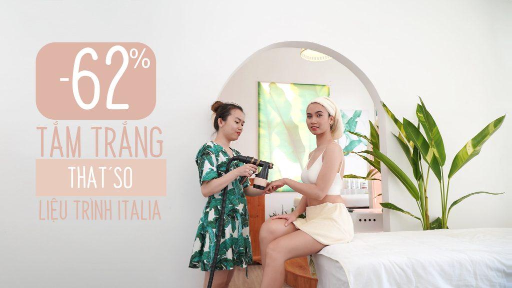 Spa Cần Thơ khuyến mãi Tắm trắng That'so Pure White Italia